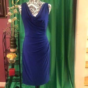 Gorgeous Ralph Lauren Midi Dress in Blue Sz 8.